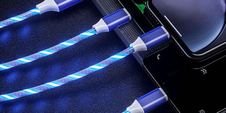 LED Light 3-in-1 Micro Type C: With three different connectors, you can quickly charge any of your devices with a single lengthy, glowing cord