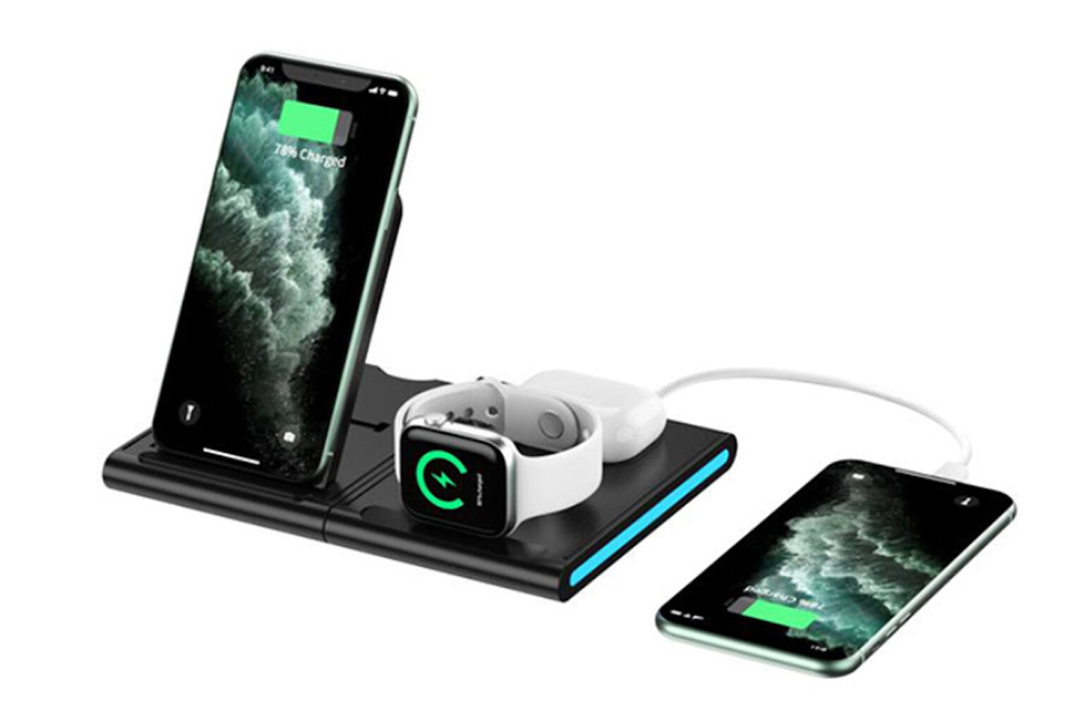 Magnetic Power Tiles 4-in-1 Wireless Charging Station