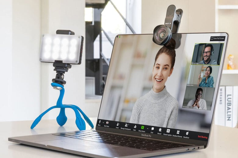 Pictar Home Office Kit: Add a professional polish to your video chats with an 18 mm wide-angle lens, 3-in-1 tripod, smart light, and more