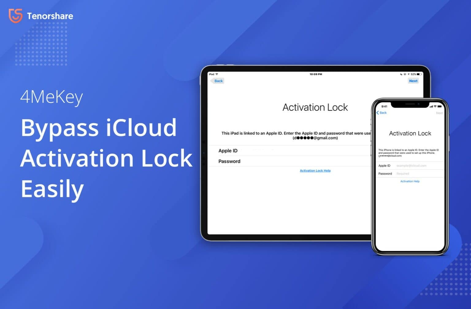 Tenorshare 4MeKey easily bypasses your iOS device's iCloud activation lock.