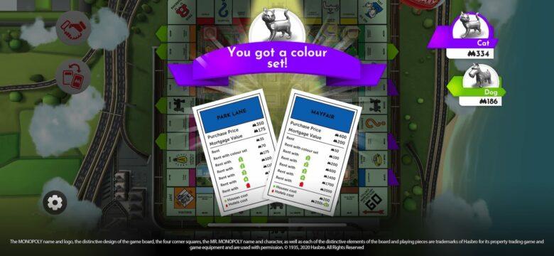 monopoly set of properties on ios