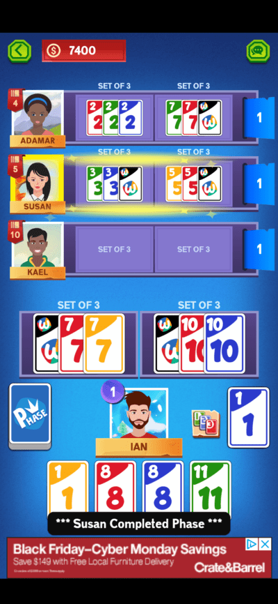 phase card game on ios