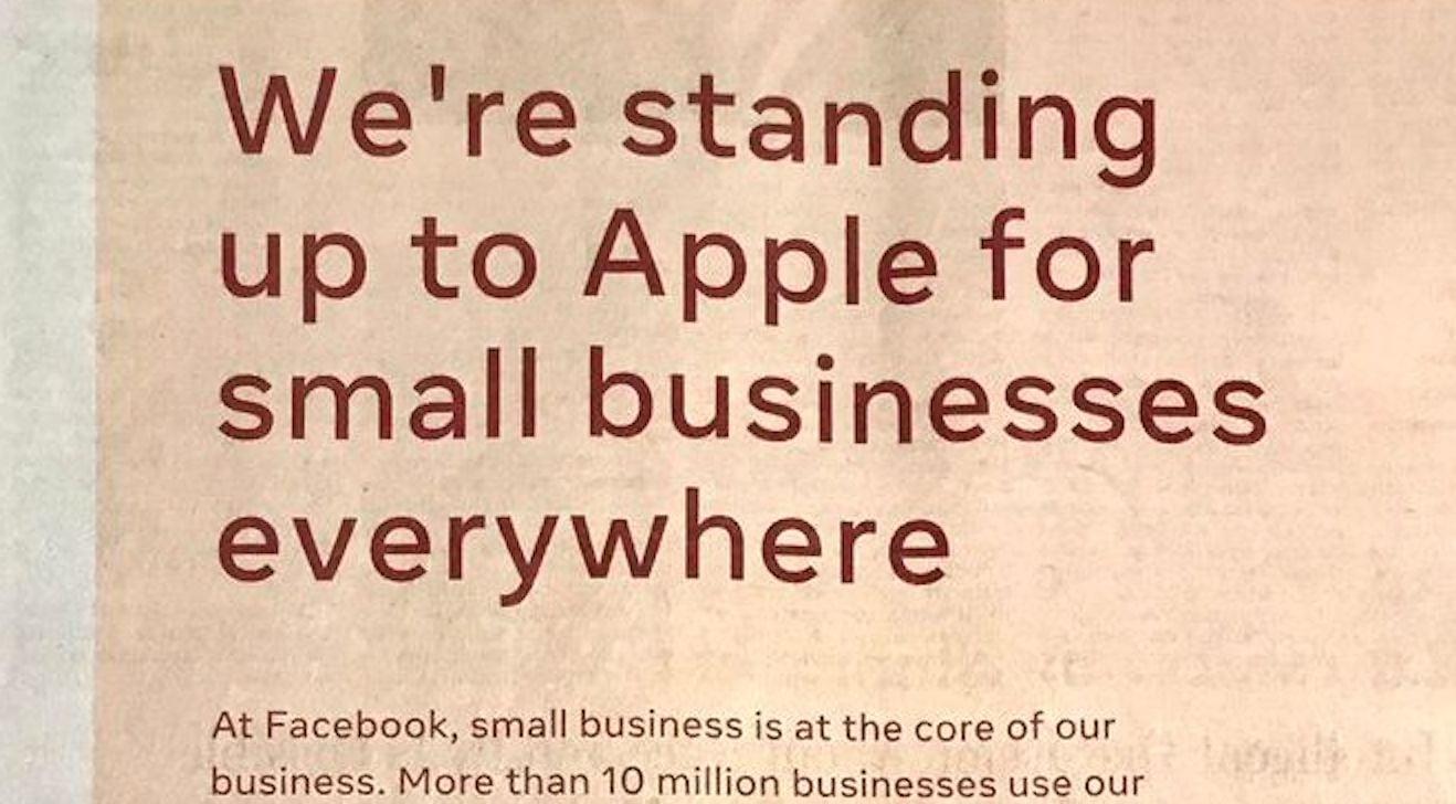 Facebook's anti-Apple ad