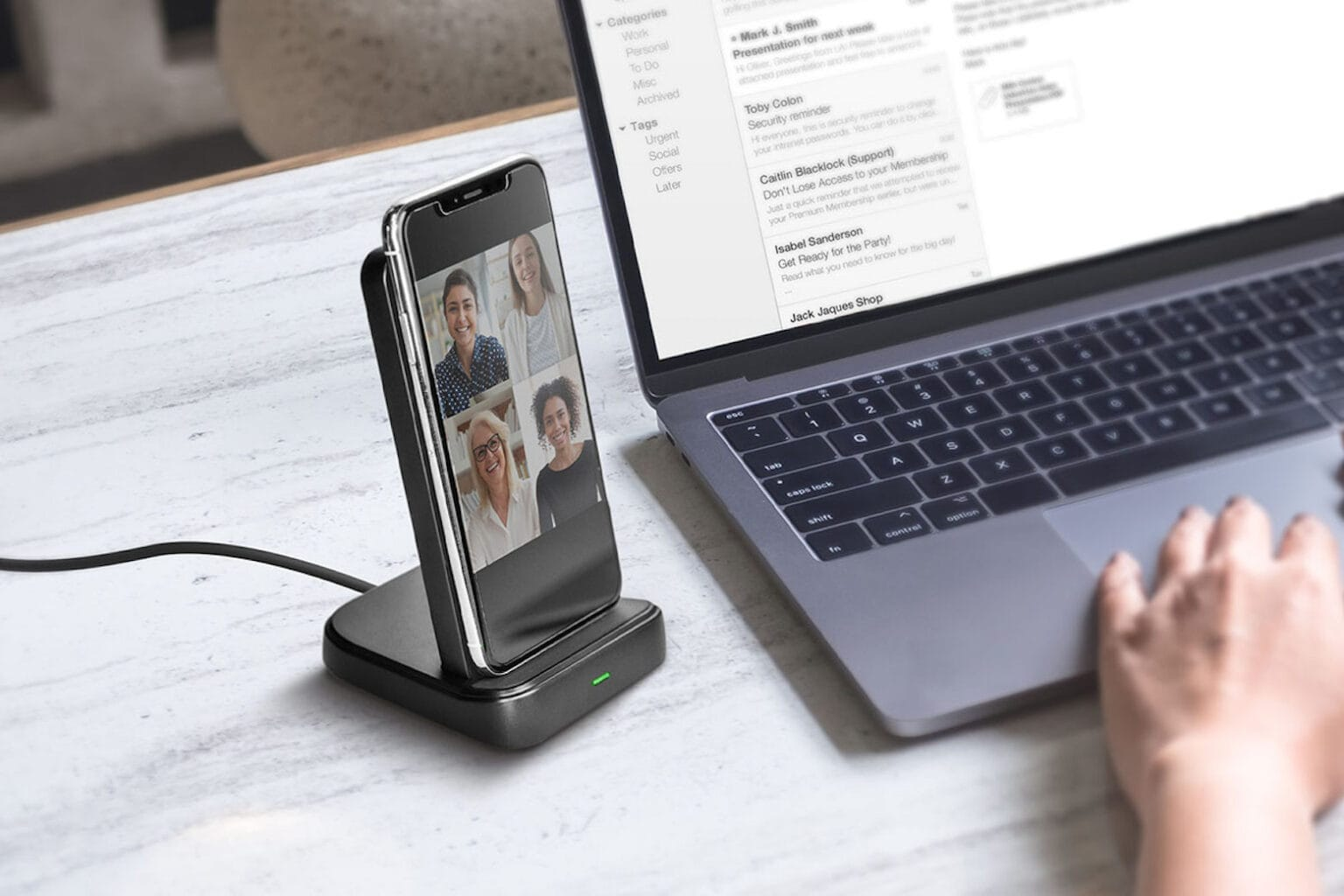 Charge up to 3 devices at once with this innovative dock