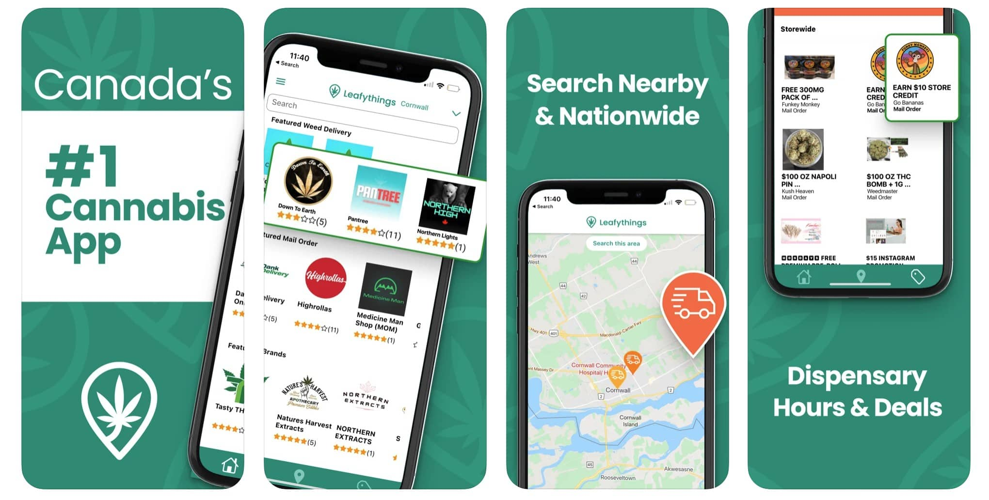 Leafythings: As Canada's legal marijuana market continues to grow like an, ahem, weed, new app Leafythings stands ready to connect cannabis consumers and producers alike. It offers accurate, up-to-date info on marijuana and CBD products, as well as a handy directory of licensed providers.