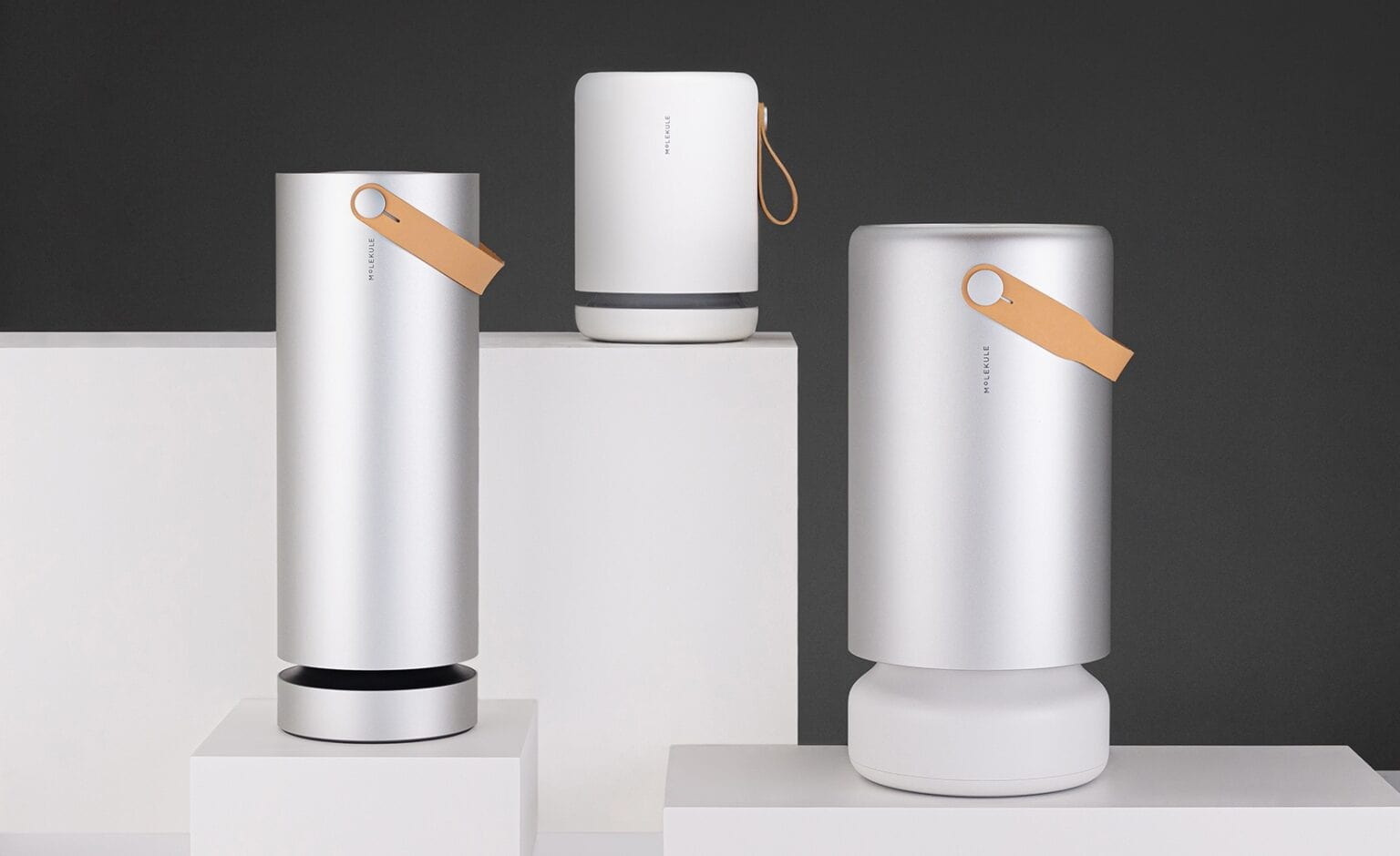 Molekule's advanced air purifiers come in a variety of shapes and sizes.
