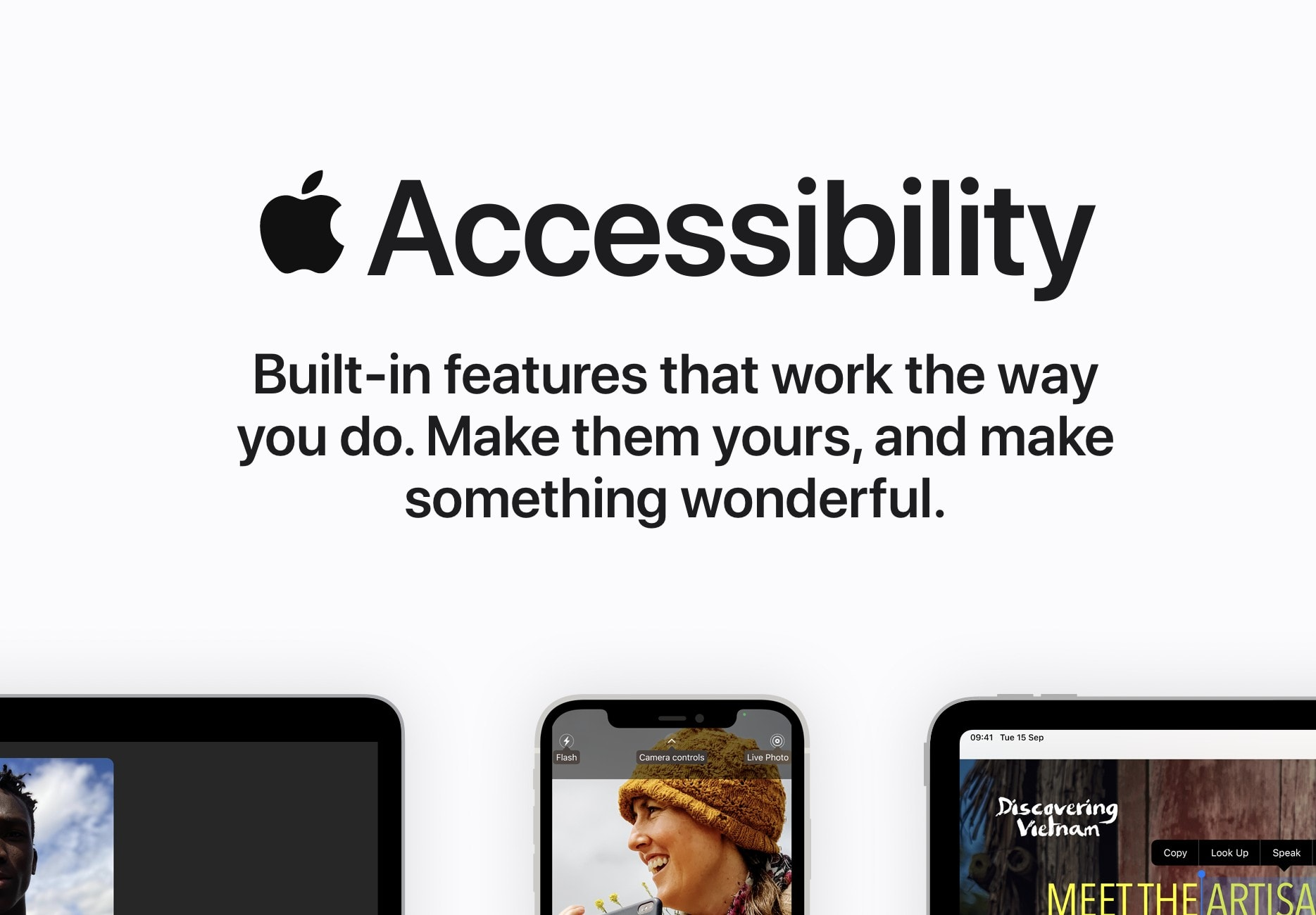 Apple highlights its in-built Accessibility features on overhauled webpage
