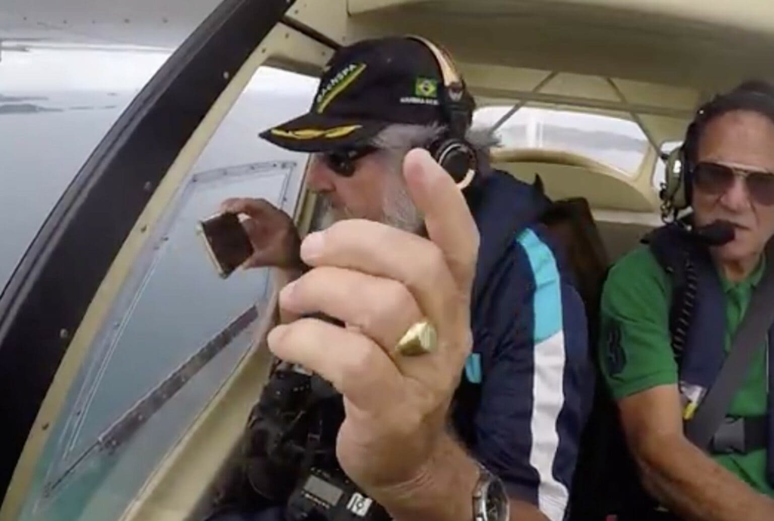 iPhone dropped out of plane