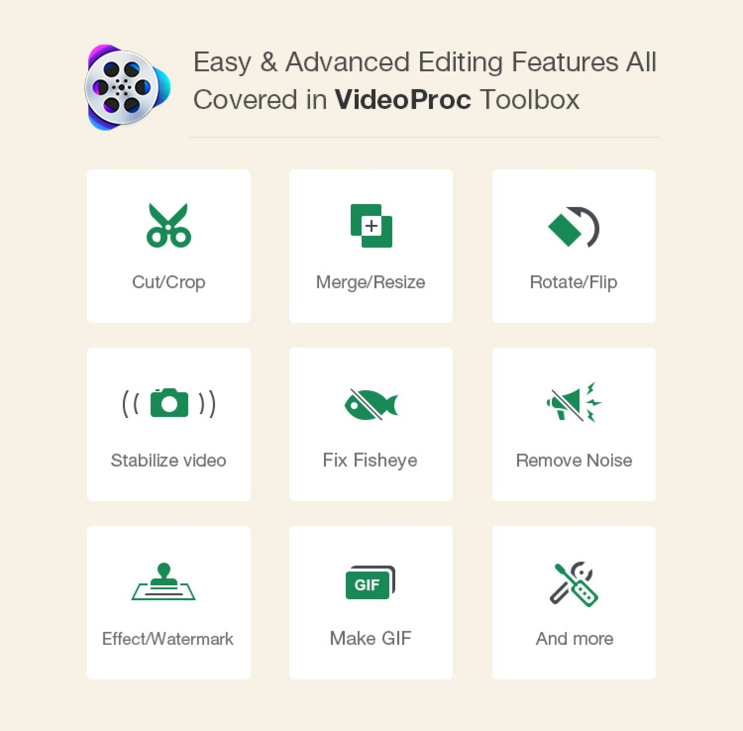 VideoProc can handle all your video editing and processing tasks, without a huge learning curve.