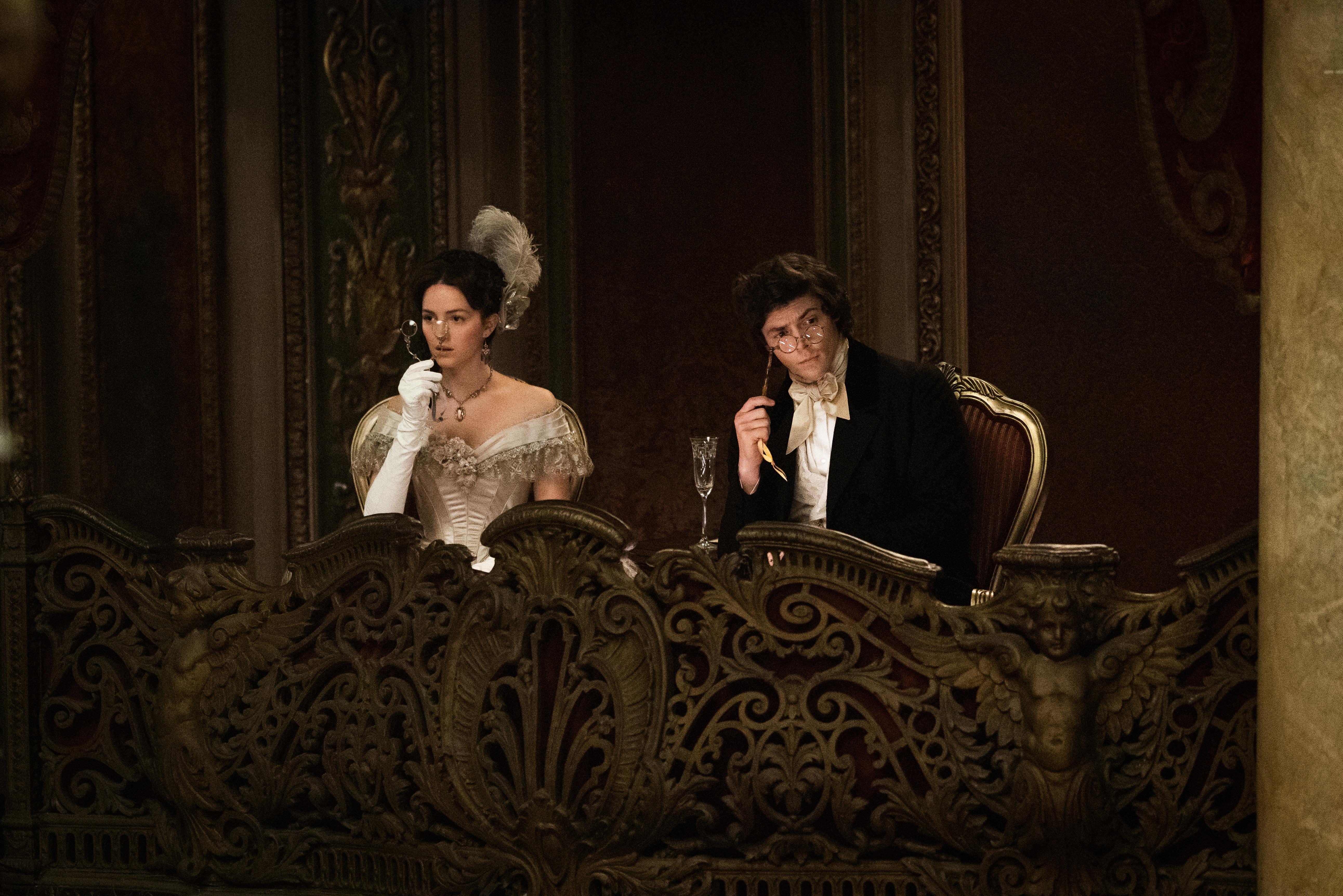 Adrian Enscoe and Ella Hunt in this week's <em>Dickinson</em>