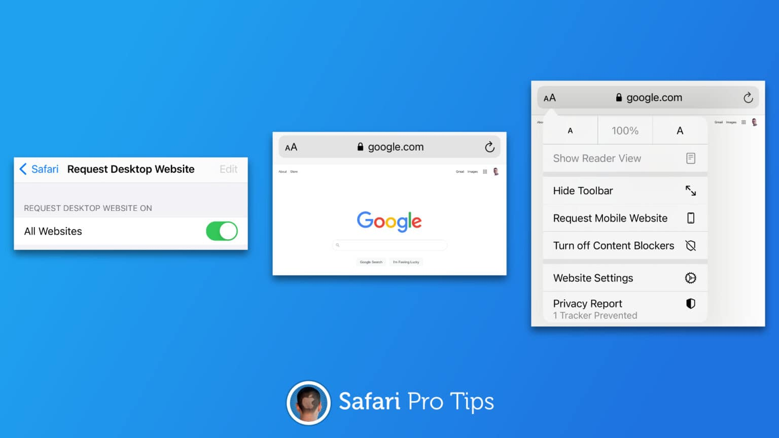 How to fetch desktop websites in Safari