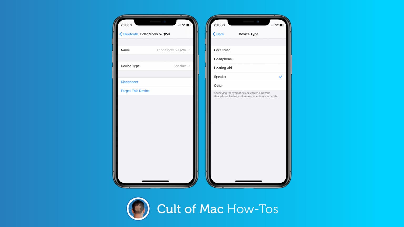 Classify Bluetooth devices in iOS 14