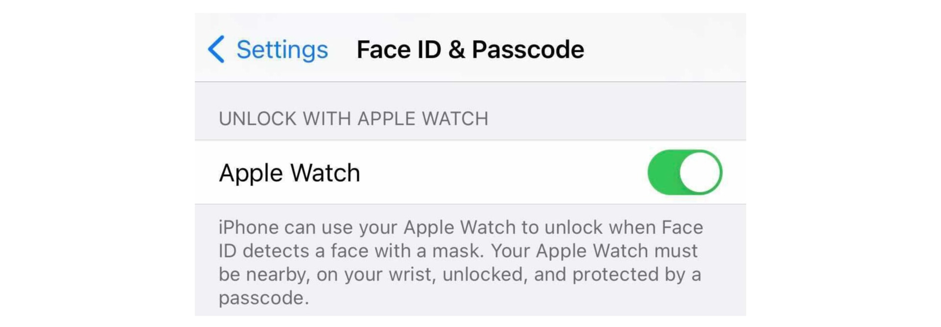 Unlock iPhone with Apple Watch
