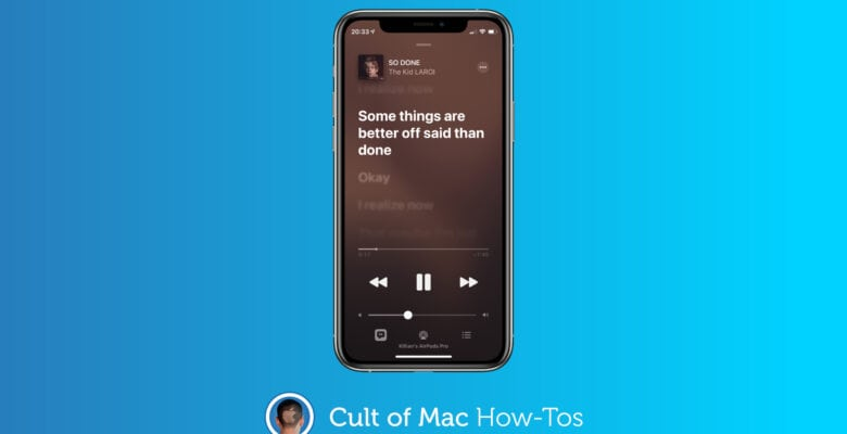 How to share lyrics from Apple Music