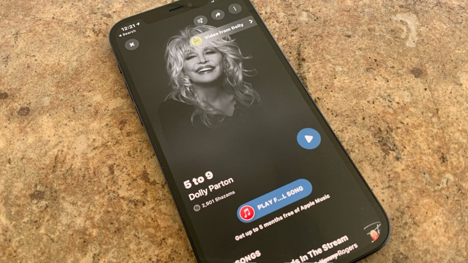 Listen to Dolly Parton in '5 to 9' for 5 free months of Apple Music.