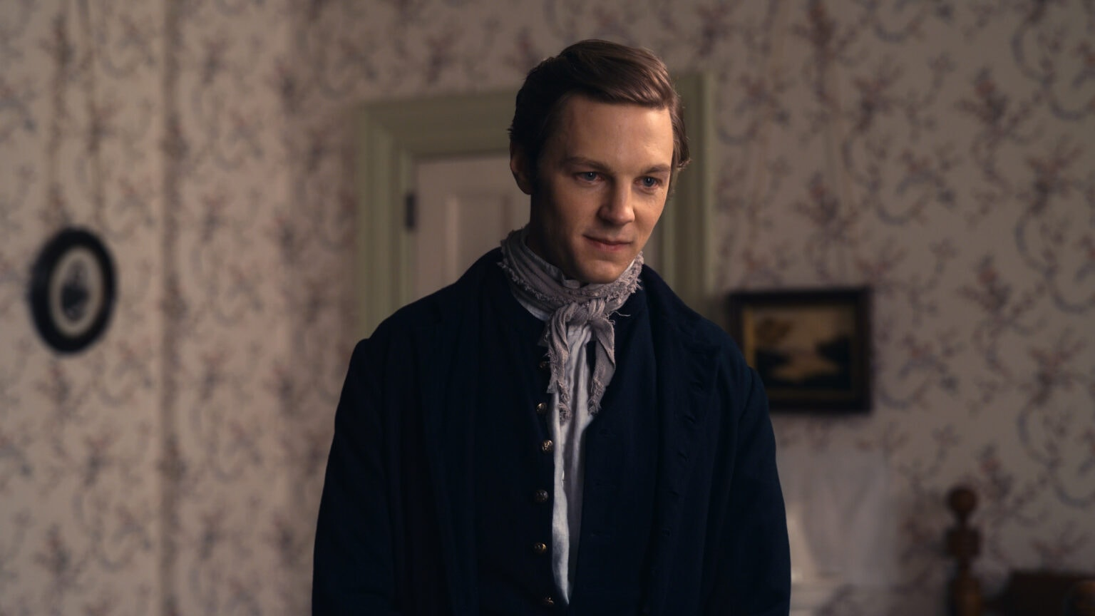 Will Pullen as the ghost of Emily's future on this week's Dickinson