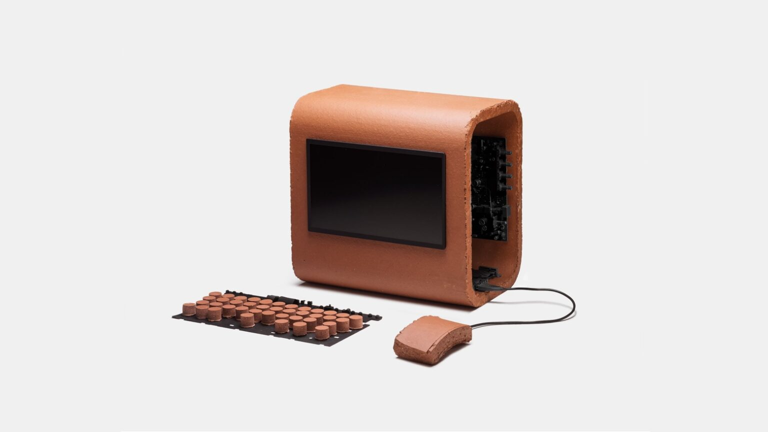 This concept Mac is made of sandstone.