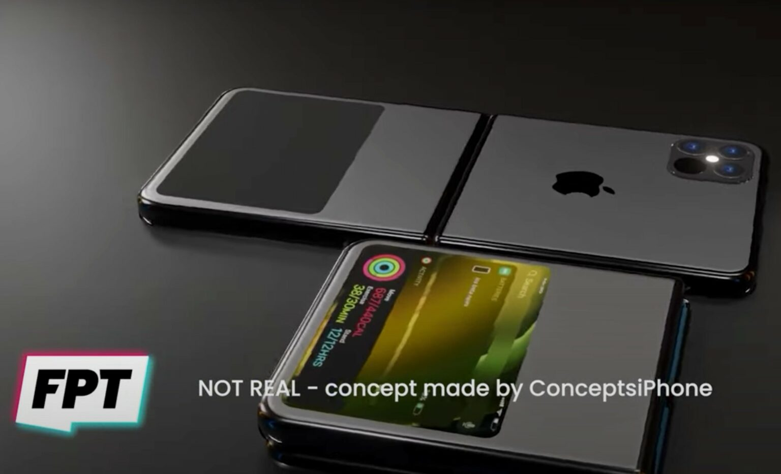 The first folding iPhone might look something like this.