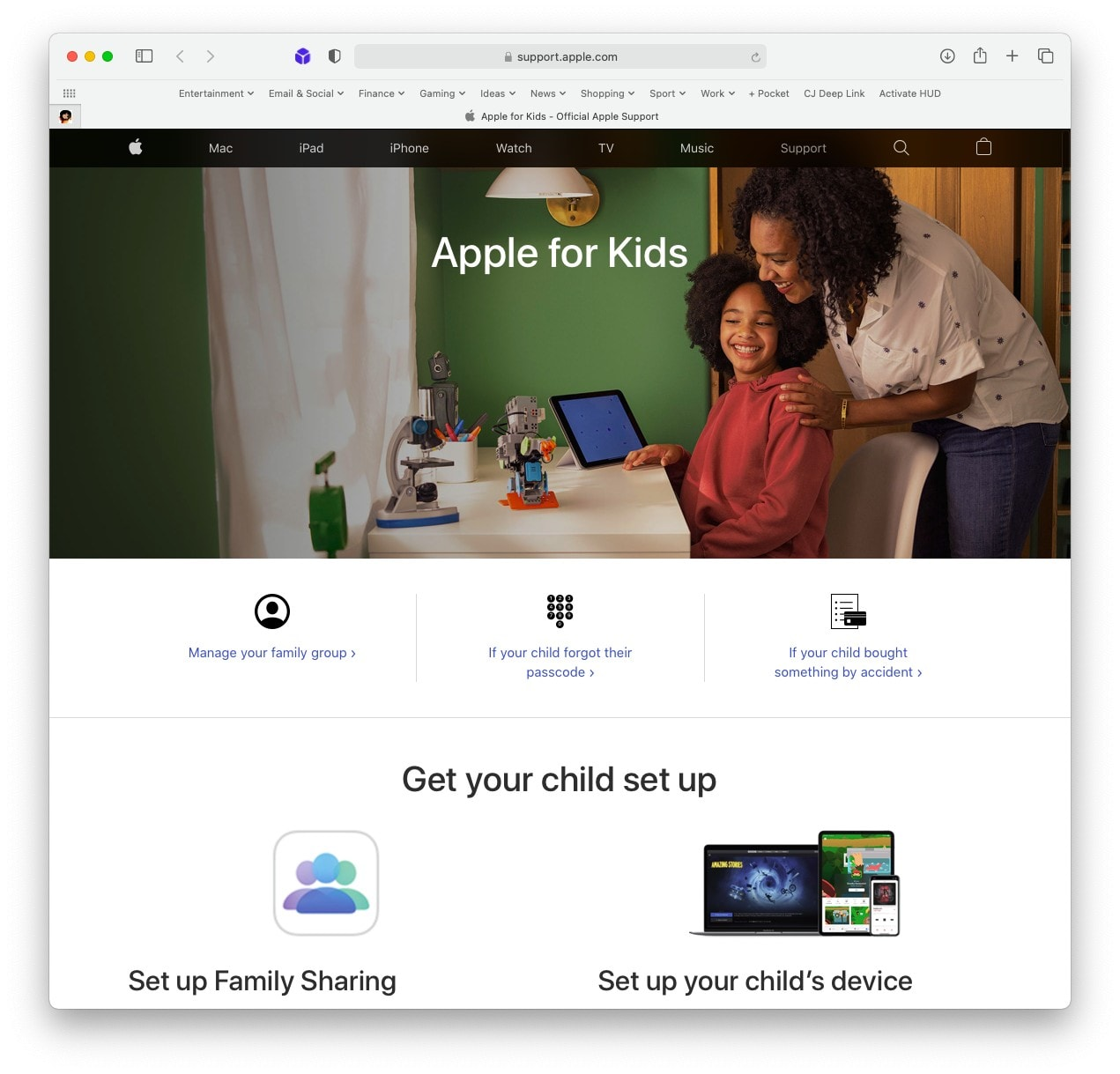Apple for Kids online portal