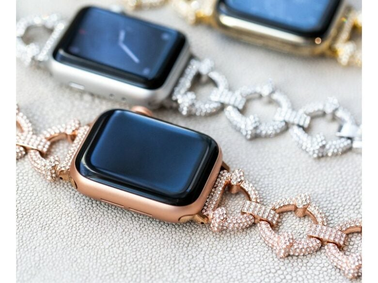 The crystal pavé Apple Watch link band will dazzle you.