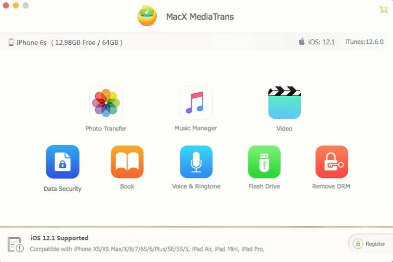 MacX MediaTrans lets you easily shuttle important files between your Mac and your iOS device.