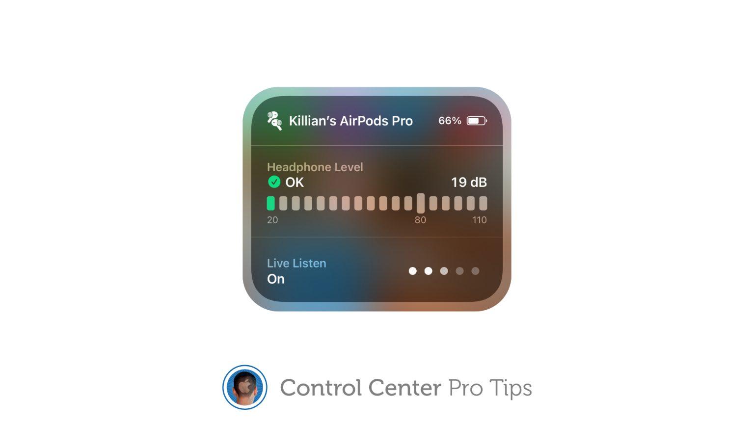 Activate Live Listen Control Center
