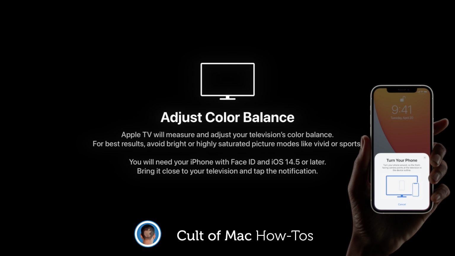 How to color calibrate Apple TV