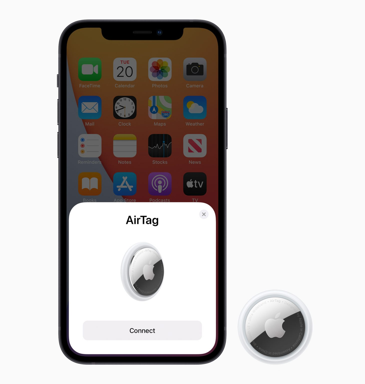 AirTag pairs easily with iPhone, much like AirPods.