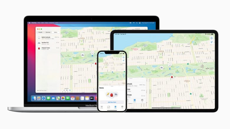 The Apple Find Me app is available on iPhone, iPad and Mac.