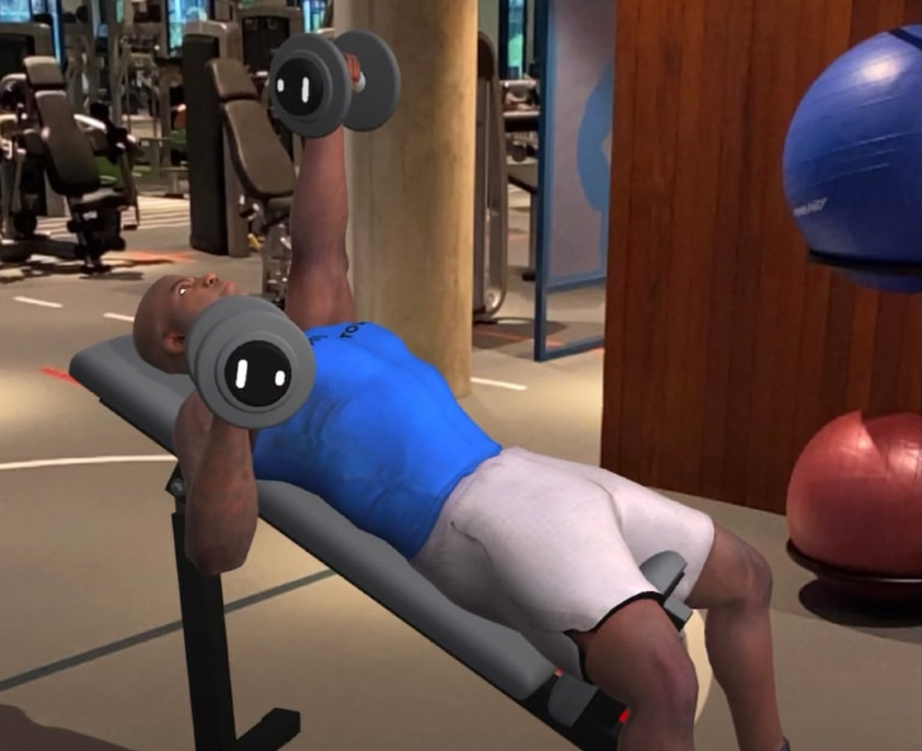 AR apps like D2W put virtual fitness trainers right there in the room with you.