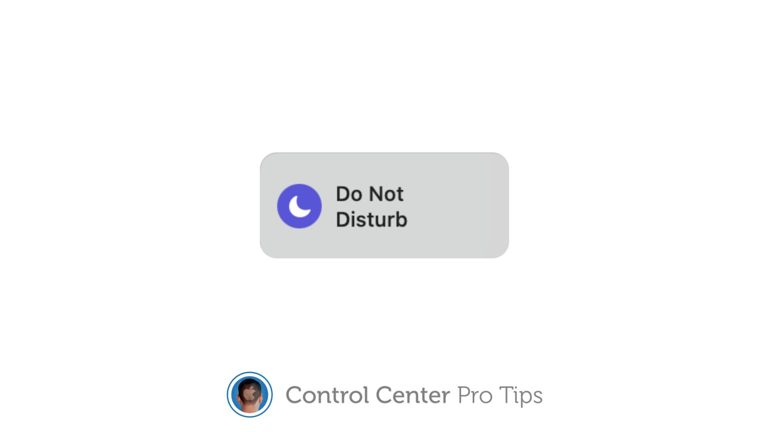 Toggle Do Not Disturb in Control Center