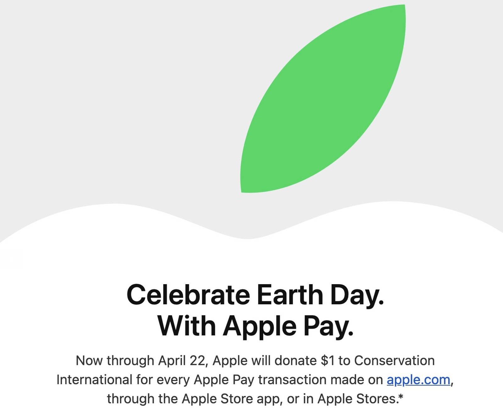 Earth Day Apple Pay promotion donates funds to conservation charity