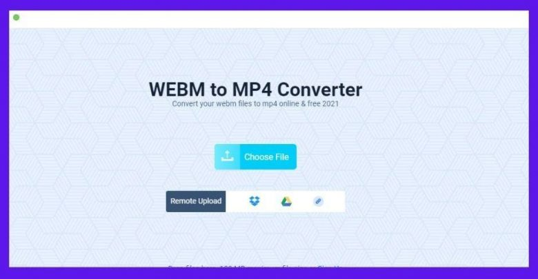 You can quickly convert WebM to MP4 with this free online tool.