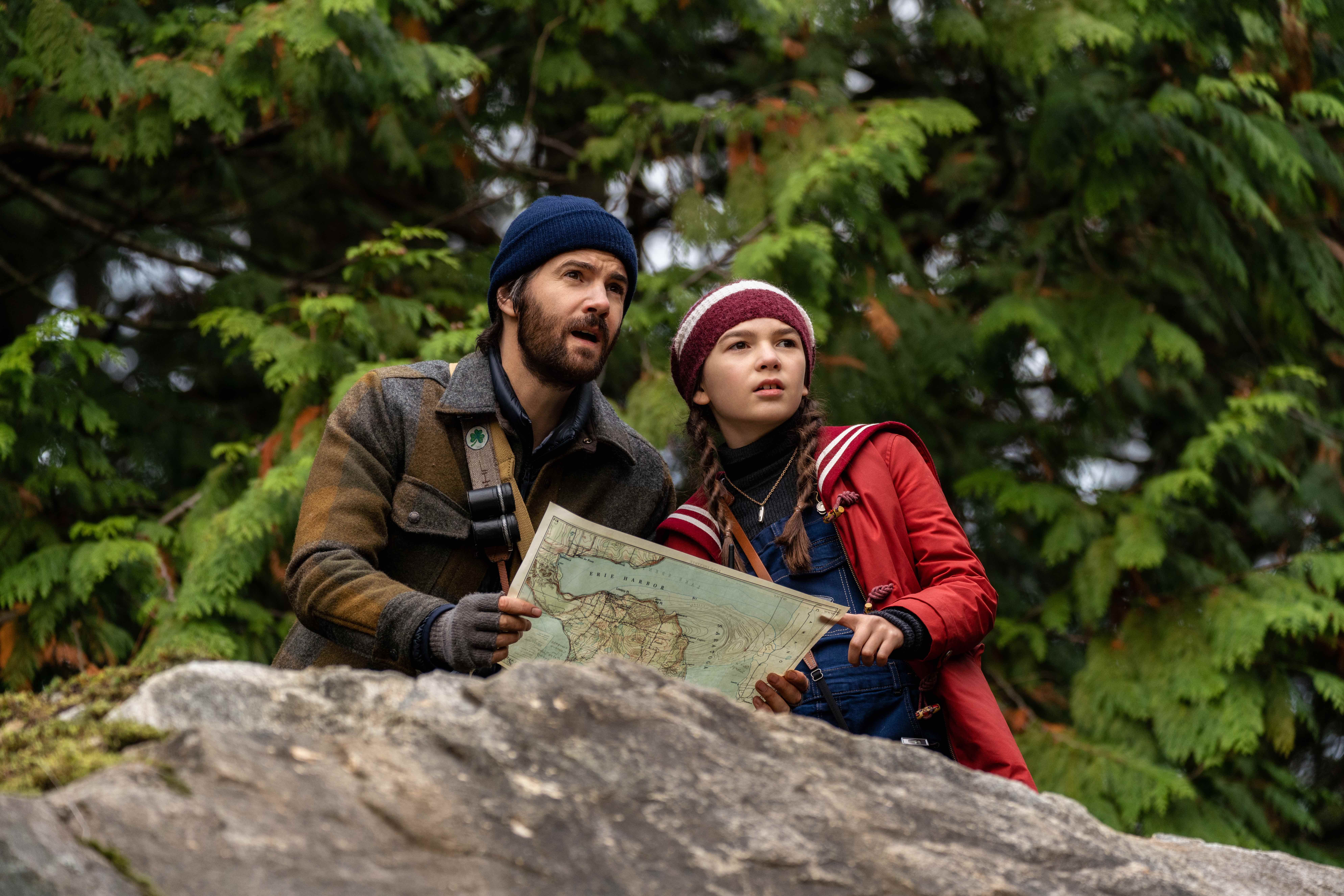 Jim Sturgess and Brooklynn Prince do some digging in Home Before Dark.