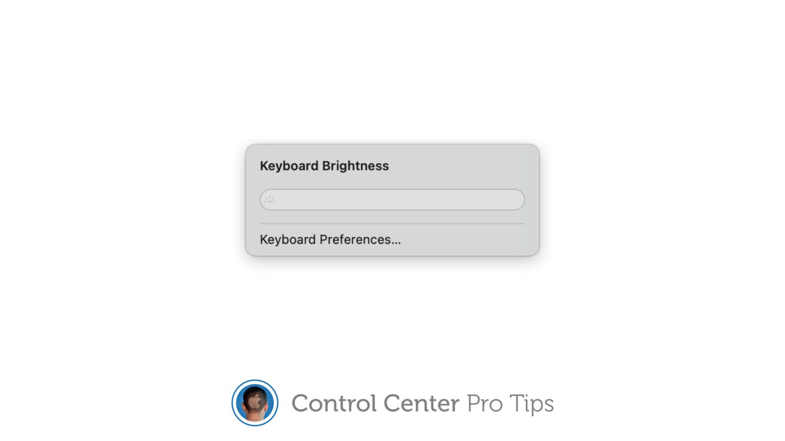 How to adjust keyboard brightness using Control Center