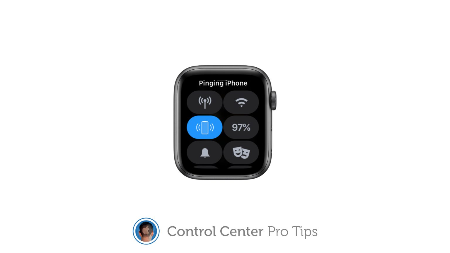 Ping a lost iPhone using Control Center on Apple Watch