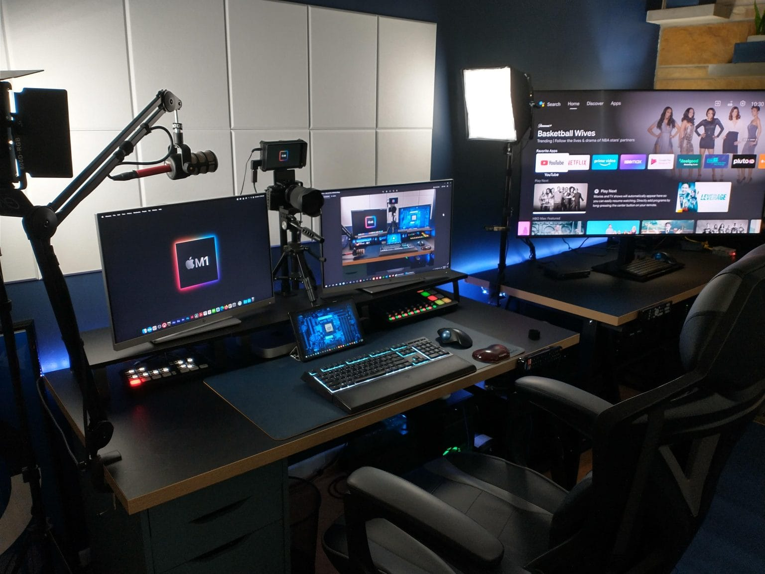 Browsing, remote tech support work, gaming, videoconferencing, podcasting -- this setup does it all.