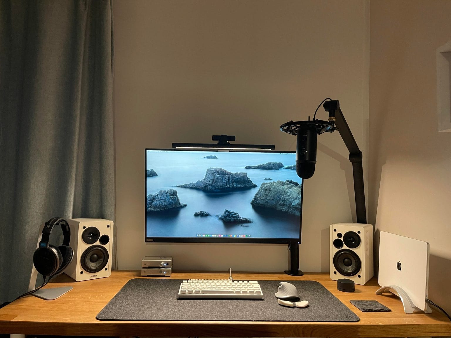 This MacBook Pro M1 setup is all about quality audio.