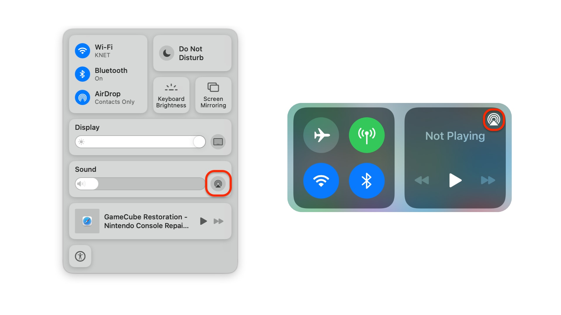 Manage Bluetooth devices in Control Center