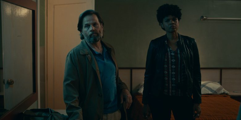The Mosquito Coast review: FBI agents, played by James Le Gros and Kimberly Elise, mean trouble for the Foxes.