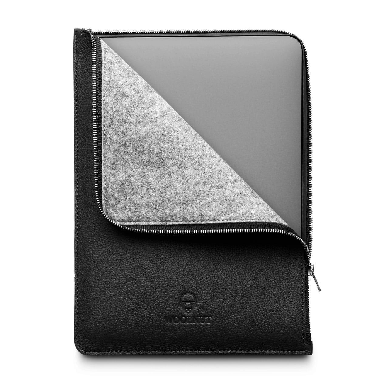 Woolnut MacBook Folio giveaway: A European delight: Scandinavian leather outside, German felted wool inside.