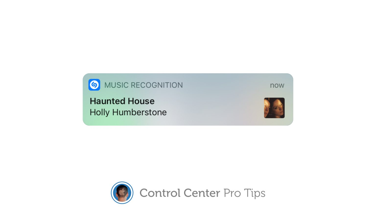 Identify a song with Control Center