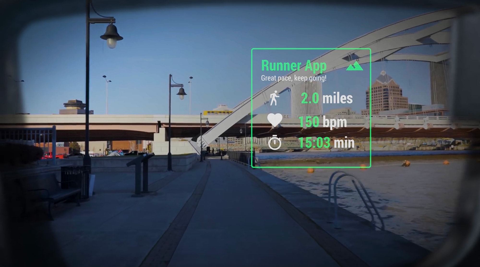 Vuzix Blade demonstrates the potential of AR for runners