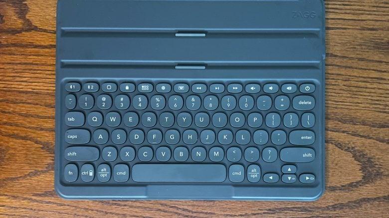 12.9-inch version of Zagg Pro Keys provides comfortable typing.