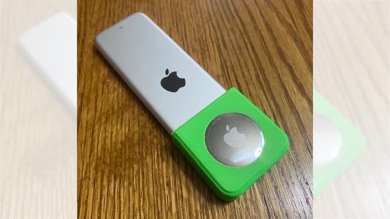 DIY 3D printed AirTag Apple TV remote connector