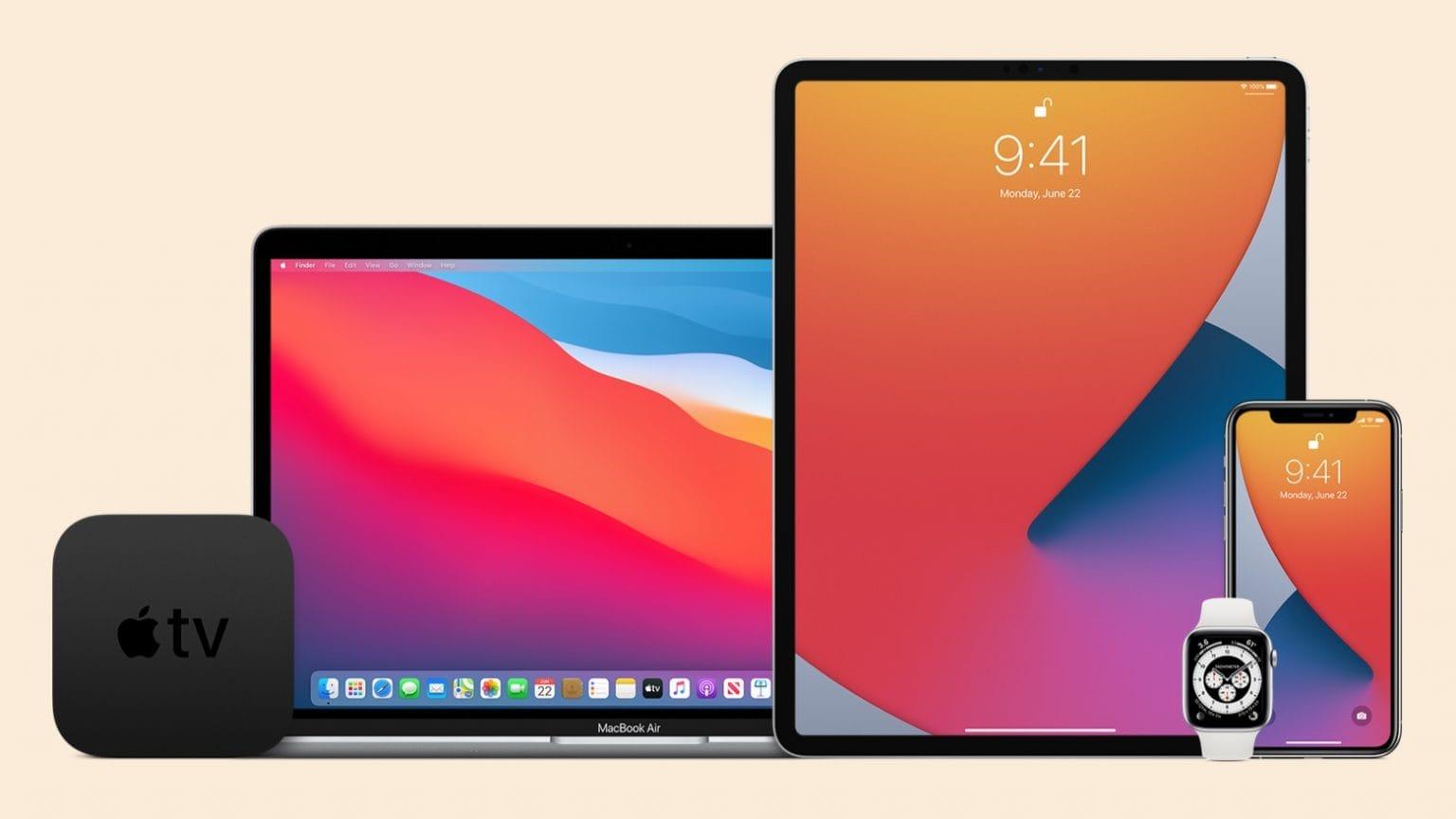 MacBook, iPad, Apple Watch, Apple TV