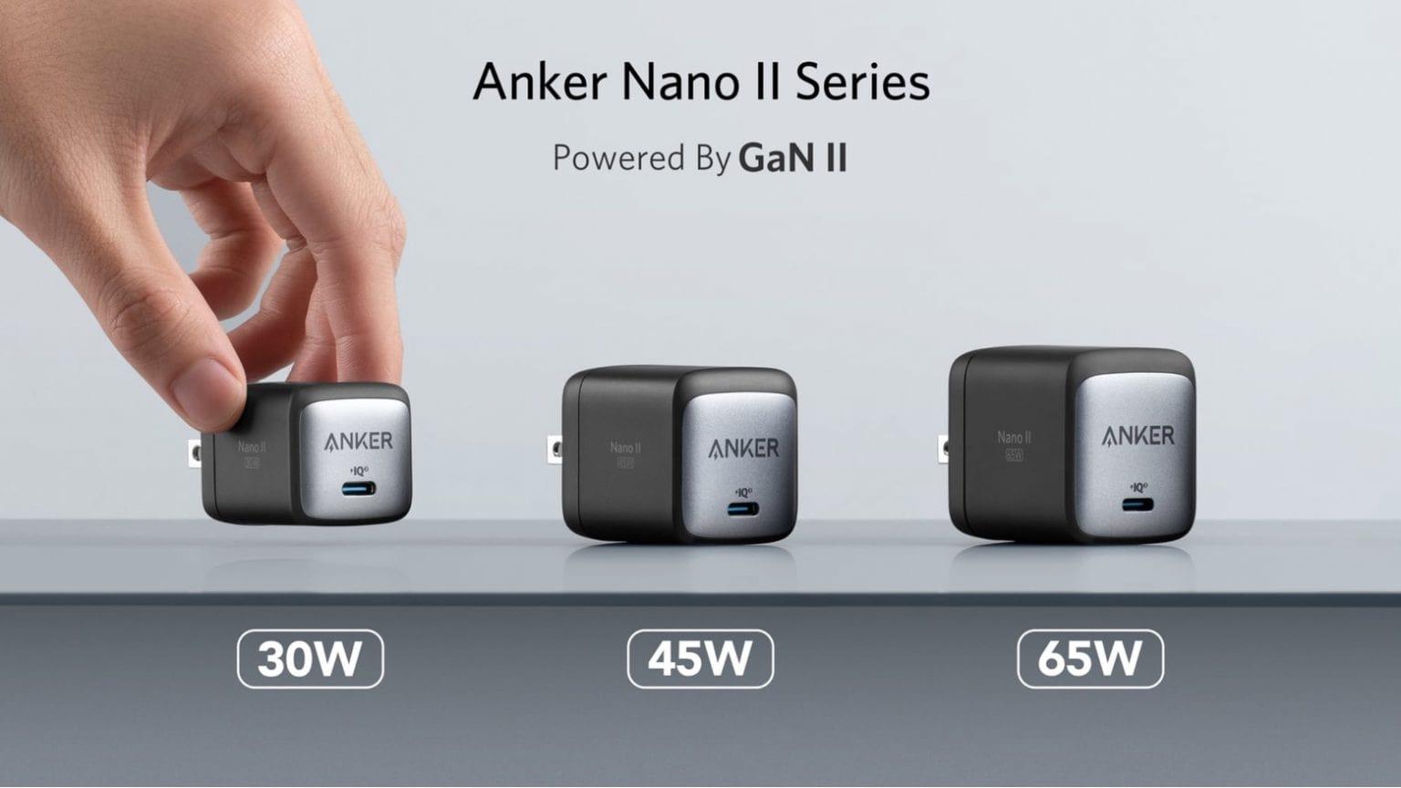 Anker Nano II line offers big power thanks to GaN II