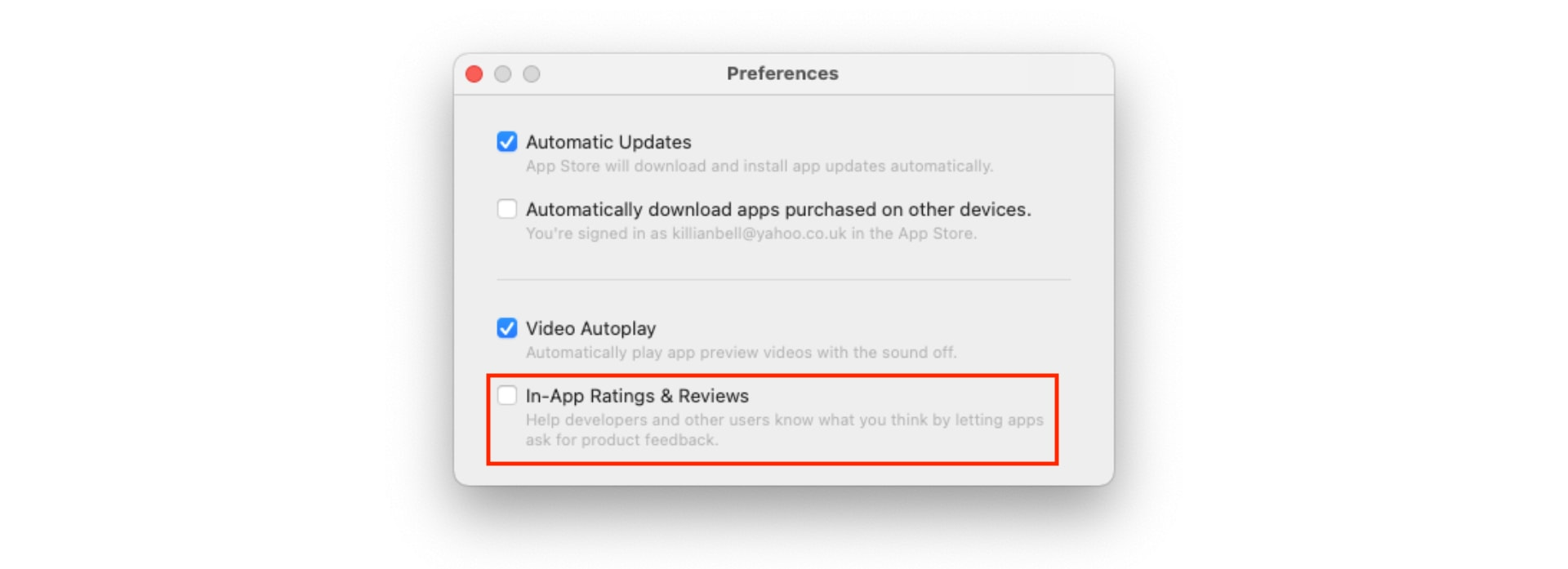 How to block App Store rating requests