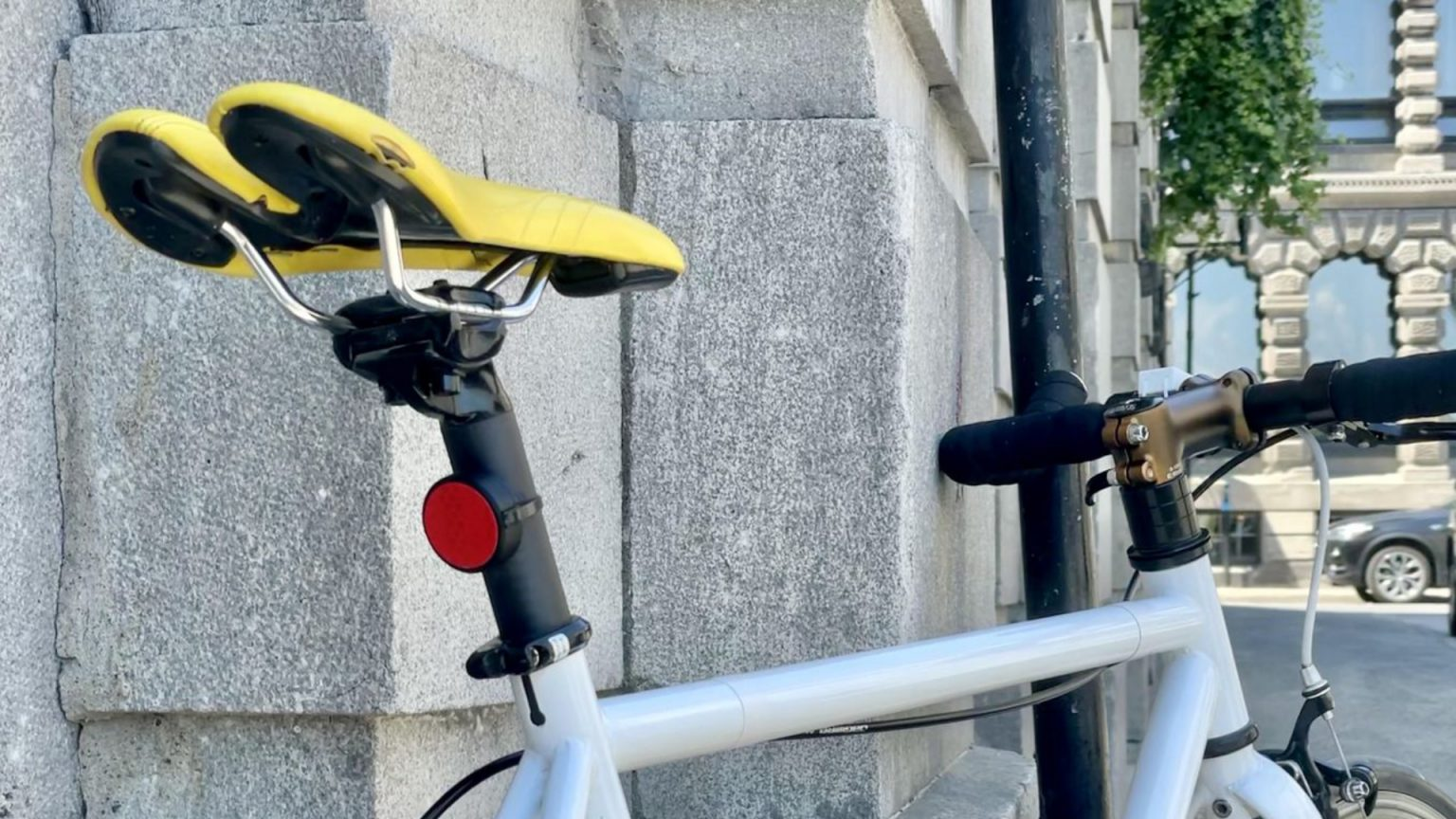 AirTag bike mount and reflector