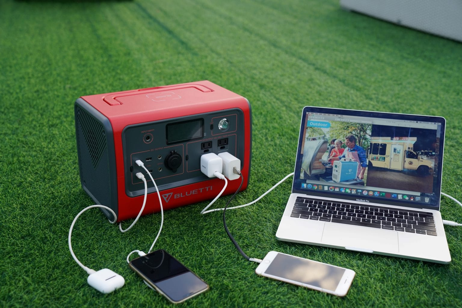 With the Bluetti EB70 Portable Power Station, your devices will be charged no matter what happens.